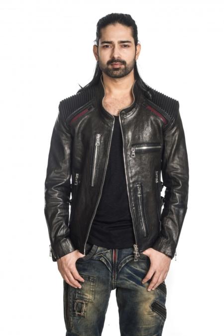 salman's style leather jacket