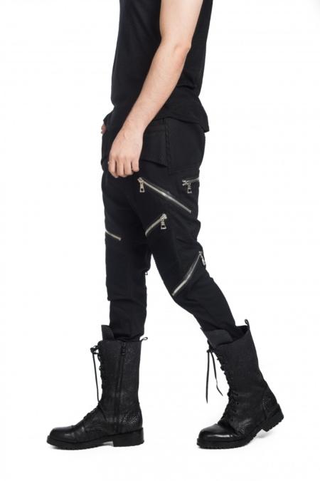 Stretch zipper pant