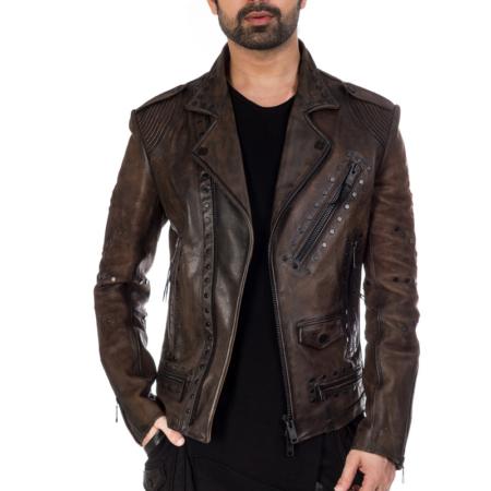 Stylish designer Flap jacket with black metal zipper