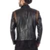 Stylish brown leather designer jacket