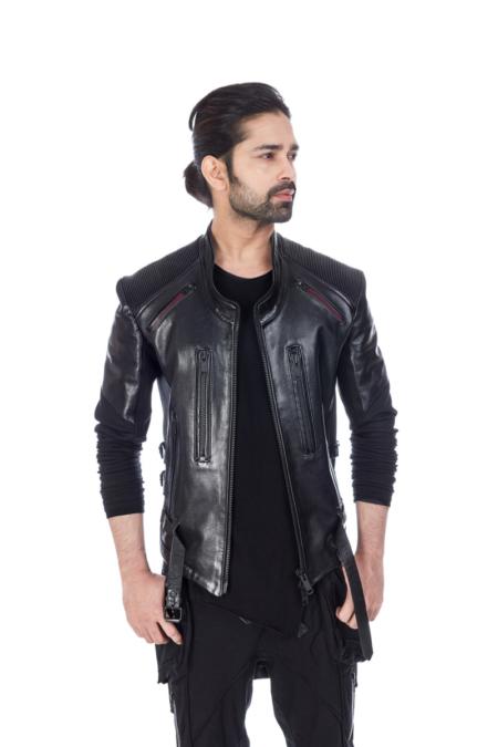Slim Fit Black Designer Jacket