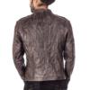 Slim Fit Crumble Designer Jacket with black metal zipper. Smart Collar slim Fit Crumble Designer Jacket