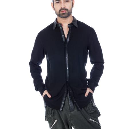 Black Linen Designer Shirt