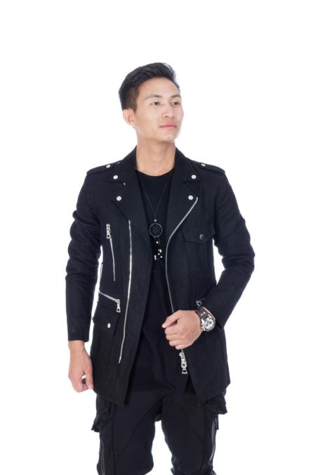 Denim Military look Jacket